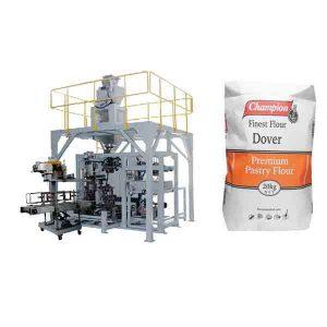 Serbuk Pembungkusan Mesin 20kg Tepung Besar Beg Pembungkusan Mesin Dengan Mesin Pengedap