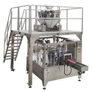 Rotary Automatic Zipper Bag Isikan Mesin Pembungkusan Segel Untuk kacang kacang