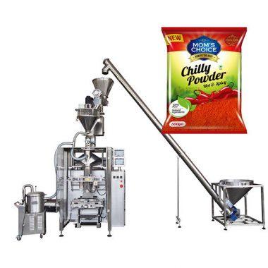 Mesin pembungkus vffs dengan pengisi auger untuk paprika dan serbuk makanan cili